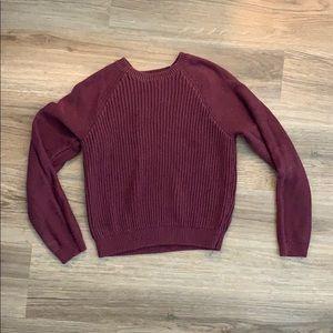 Maroon sweater